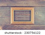 photo frame on wooden... | Shutterstock . vector #230756122