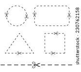 vector modern scissors with cut ...   Shutterstock .eps vector #230762158