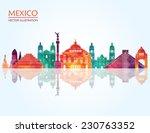 Mexico Famous Landmarks Skylin...