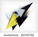 color triangles  unusual... | Shutterstock .eps vector #230765782