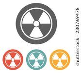 radioactive sign icon | Shutterstock .eps vector #230769478