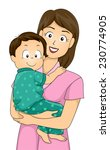 illustration featuring a mother ... | Shutterstock .eps vector #230774905