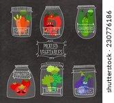 pickled vegetables in vector... | Shutterstock .eps vector #230776186