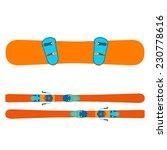 vector illustration snowboard... | Shutterstock .eps vector #230778616
