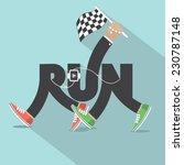 run with legs typography design ... | Shutterstock .eps vector #230787148