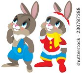 boy hare   rabbit | Shutterstock .eps vector #230787388
