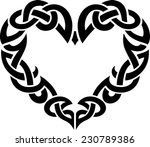 celtic abstract heart border | Shutterstock .eps vector #230789386