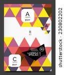 abstract modern flyer  ...   Shutterstock .eps vector #230802202