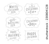 collection design of christmas... | Shutterstock .eps vector #230804128