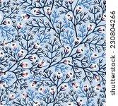 vector floral seamless pattern...   Shutterstock .eps vector #230804266