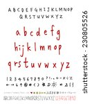 alphabet and numbers   hand... | Shutterstock .eps vector #230805526