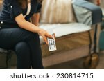 closeup on young woman watching ... | Shutterstock . vector #230814715