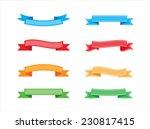 ribbon banner set.vector... | Shutterstock .eps vector #230817415