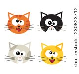 cat emotions composite isolated ... | Shutterstock .eps vector #230823712