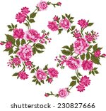 pink bouquet.vector pattern. | Shutterstock .eps vector #230827666