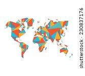 abstract world map   vector... | Shutterstock .eps vector #230837176