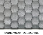 abstract  hexagonal background... | Shutterstock . vector #230850406