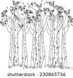 sketch of trees | Shutterstock .eps vector #230865736