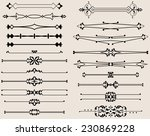 text divider collection   Shutterstock . vector #230869228