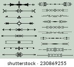 text divider collection   Shutterstock . vector #230869255