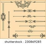 text divider collection   Shutterstock . vector #230869285