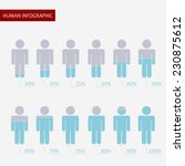 human infographic with... | Shutterstock .eps vector #230875612