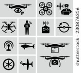 drone vector icons  | Shutterstock .eps vector #230876356