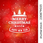 christmas vintage greeting card.... | Shutterstock .eps vector #230879035