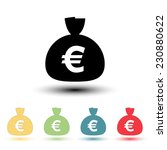money bag icon. euro eur... | Shutterstock .eps vector #230880622