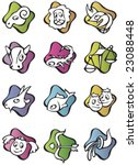Set Of 12 Zodiac Signs  Vector...