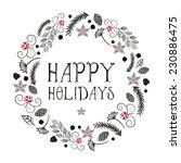 Vector Christmas With Wreath...