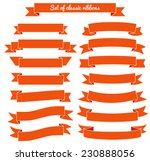 set of red ribbon banners.... | Shutterstock .eps vector #230888056