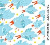 blue birds  seamless background ...   Shutterstock .eps vector #230888782