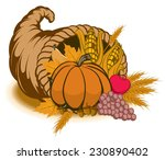 an illustration of a cornucopia ... | Shutterstock .eps vector #230890402