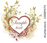 floral panel design with place... | Shutterstock .eps vector #23089474