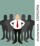 leader and his team. | Shutterstock . vector #230902906