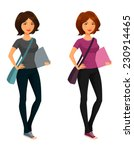 cute cartoon student girl   Shutterstock .eps vector #230914465