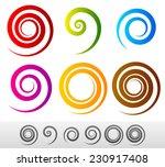 colorful spirals | Shutterstock .eps vector #230917408