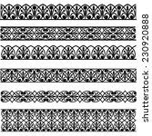 set of black borders isolated... | Shutterstock .eps vector #230920888