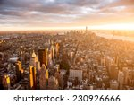 Beautiful Sunset Over Manhattan - Fine Art prints