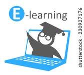 e learning education icon   Shutterstock .eps vector #230927176