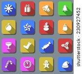 color christmas plain icons...