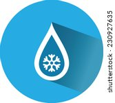 icon a drop of cold water ... | Shutterstock .eps vector #230927635