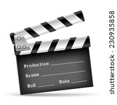 the retro clapper board on the... | Shutterstock . vector #230935858