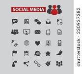 social media  community black... | Shutterstock .eps vector #230937382
