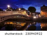 night view of famous ha'penny... | Shutterstock . vector #230943922