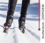 cross country skiing  close up.   Shutterstock . vector #230952838