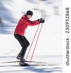 cross country skiing  close up.   Shutterstock . vector #230952868