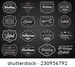 vector set of 15 of vintage... | Shutterstock .eps vector #230956792