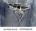 ripped blue jeans texture...   Shutterstock . vector #230960626